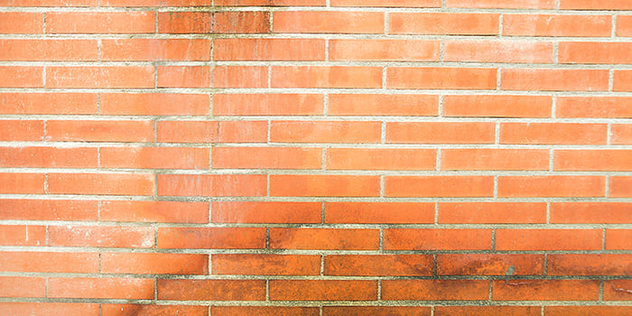 Blog - White stains on an external wall